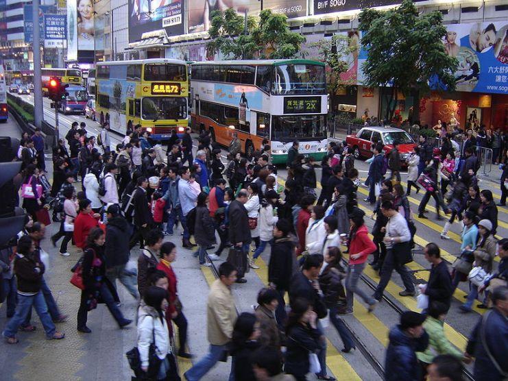 busy hong kong people