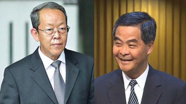 Leung Chun-ying and Wang Guangya