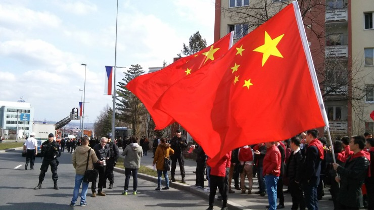 china prague protest xi