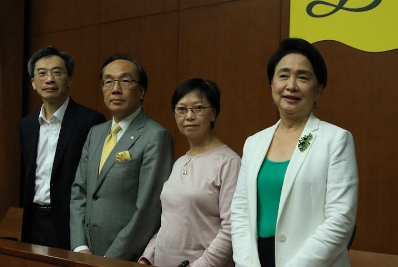 pan democrat press con after zhang dejiang