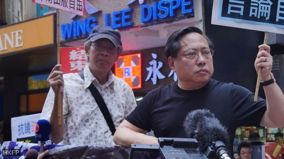 Lam Wing-kee and lawmaker Albert Ho