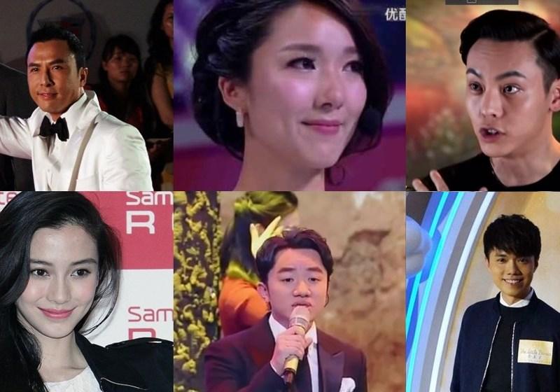 Hong Kong celebrities south chinan sea