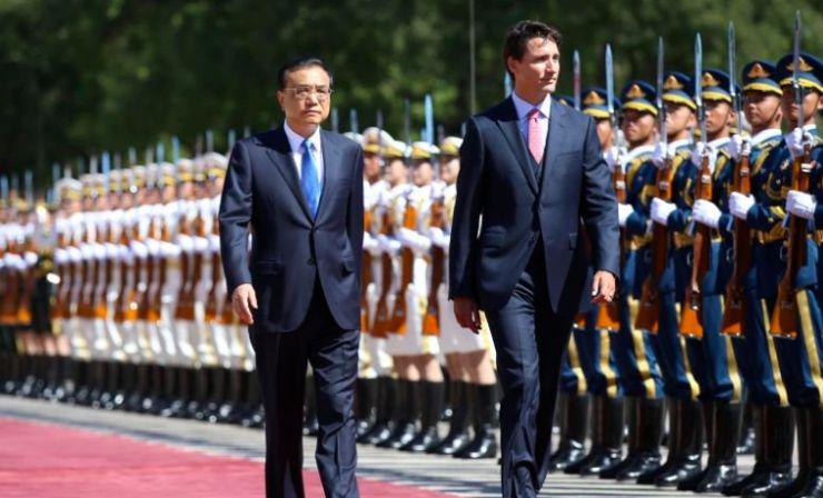 Justin Trudeau Li Keqiang.