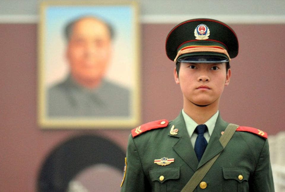 Chinese soldier Tiananmen