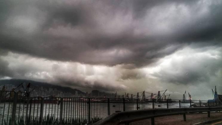 Dark clouds. Photo: Joe Law via Facebook Hong Kong Breaking Incident Group.