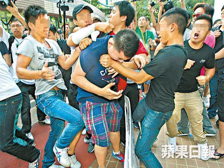 Violent clashes Tin Shui Wai Leung Chun-ying