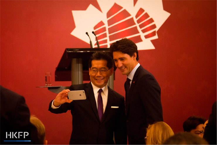 Justin Trudeau with Gregory So