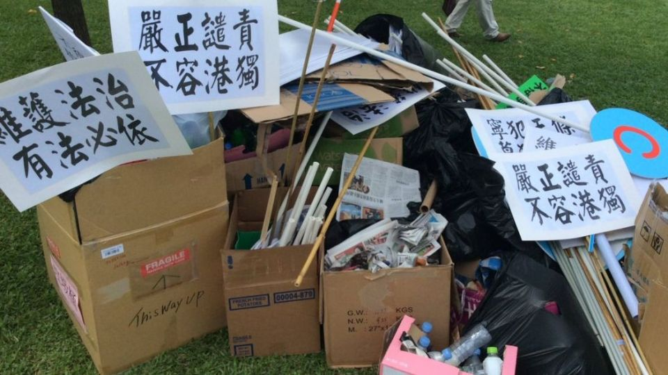 china protest trash