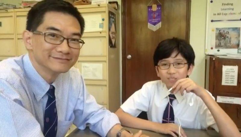 wah yan principal and student