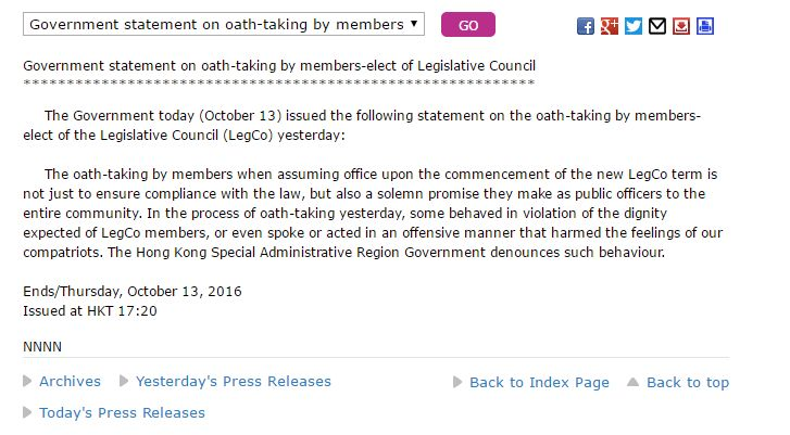 gov statement oath-taking