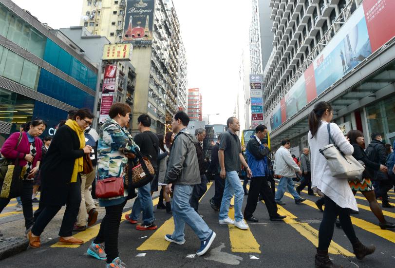 Mong Kok pedestrians