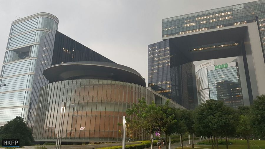 legco Hong Kong Legislature and government building