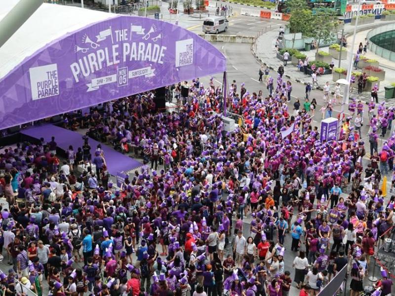 Purple parade