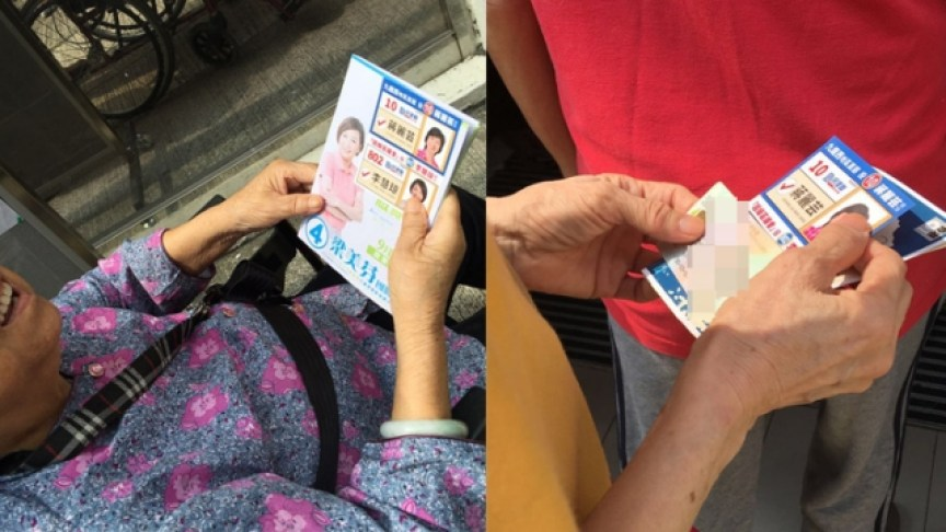 Some elderly were allegedly given voting instructions by pro-Beijing parties in the past elections. File Photo: Apple Daily.