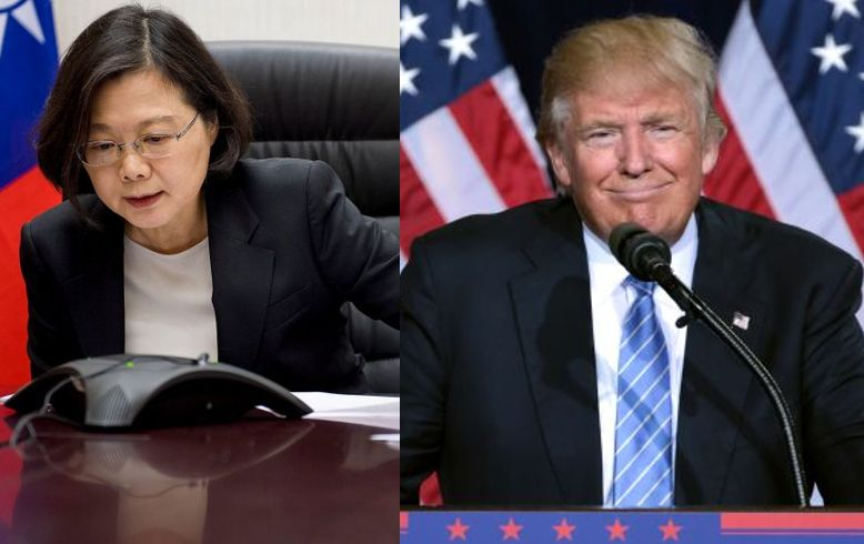 Tsai Ing-wen and Donald Trump