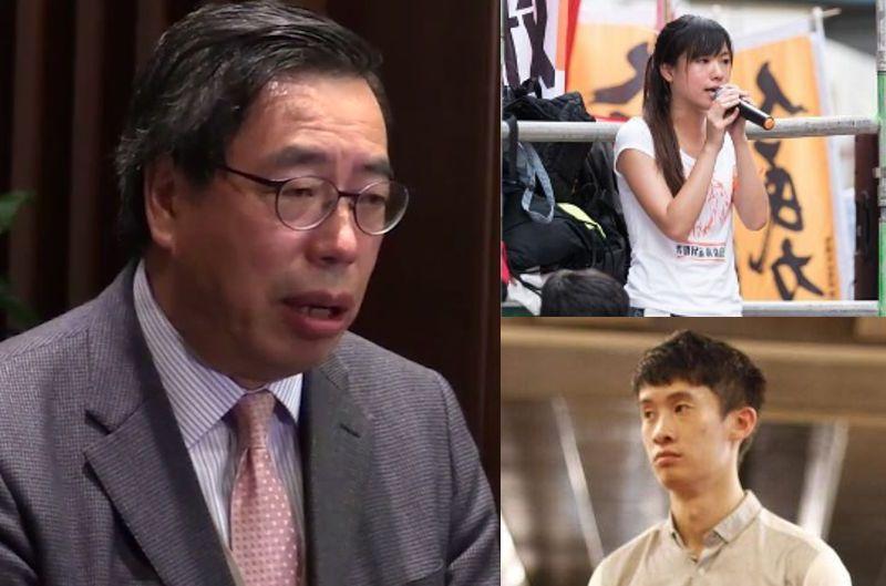 Andrew Leung, Yau Wai Ching and Baggio Leung