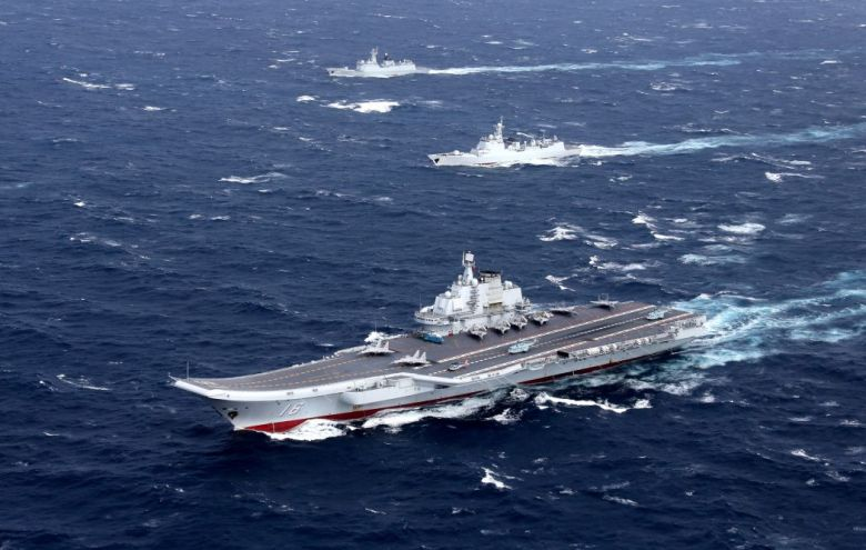 liaoning carrier china south china sea
