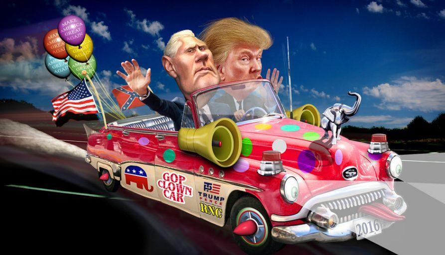 trump clown car