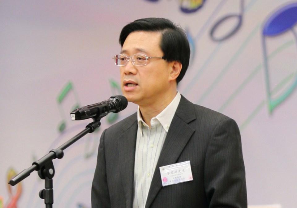 Secretary for Security John Lee Ka-chiu