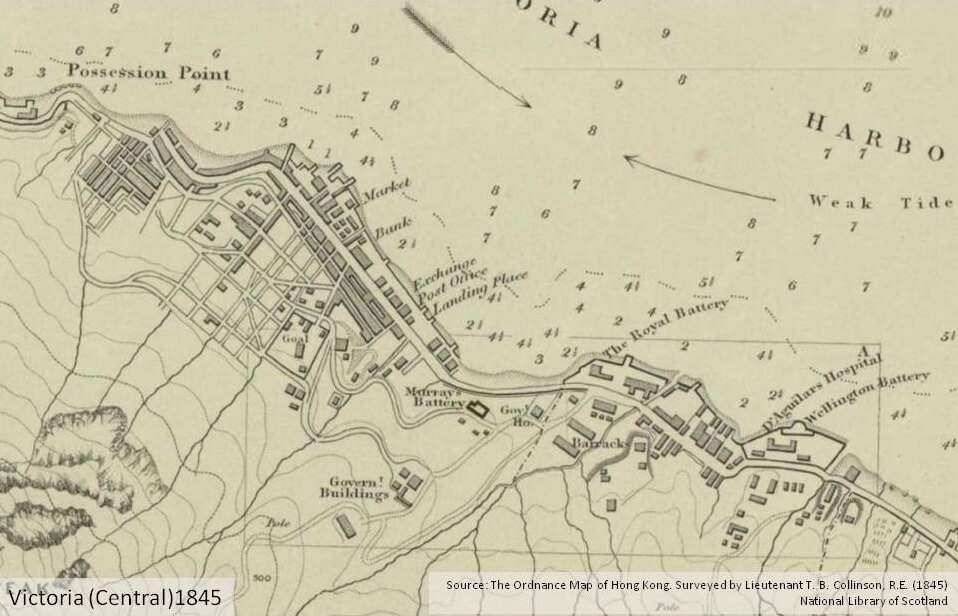 A 1845 map of Central