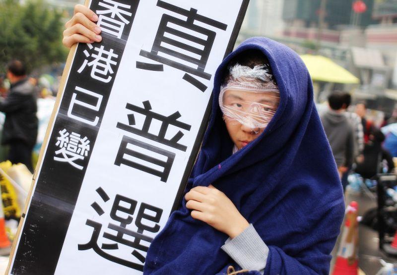 occupy democracy activist umbrella
