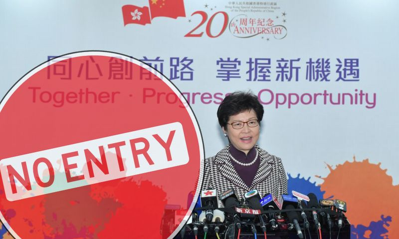 carrie lam media ban