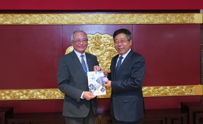 Secretary for Education Eddie Ng and Minister for Education Chen Baosheng