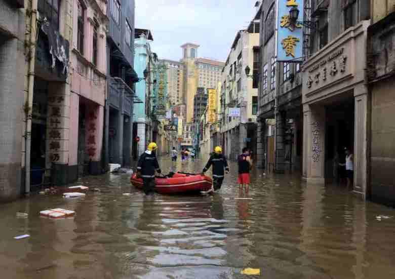 macau flood typhoon hato