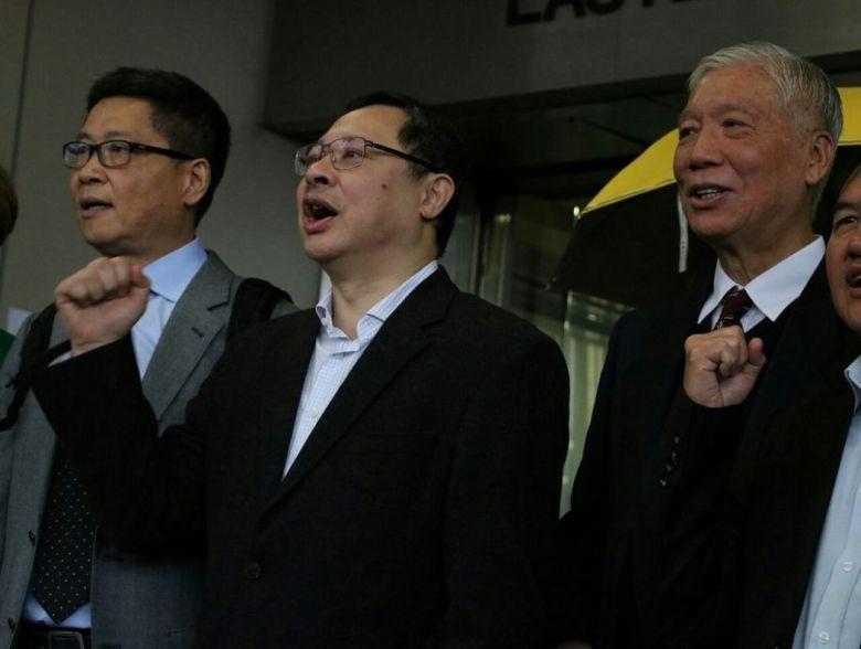 occupy trio Chan Kin-man, Benny Tai and Reverend Chu Yiu-ming
