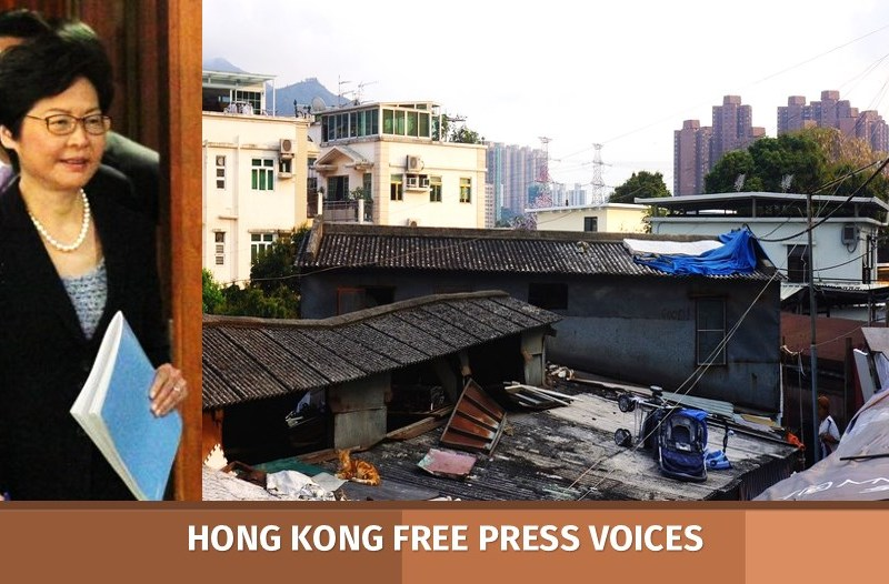poverty hong kong carrie lam