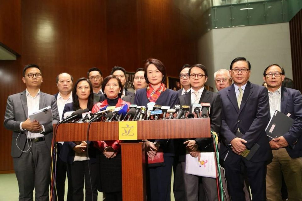 Pro-Beijing camp lawmakers