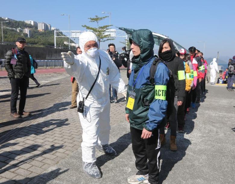 daya bay nuclear power plant drill emergency evacuation