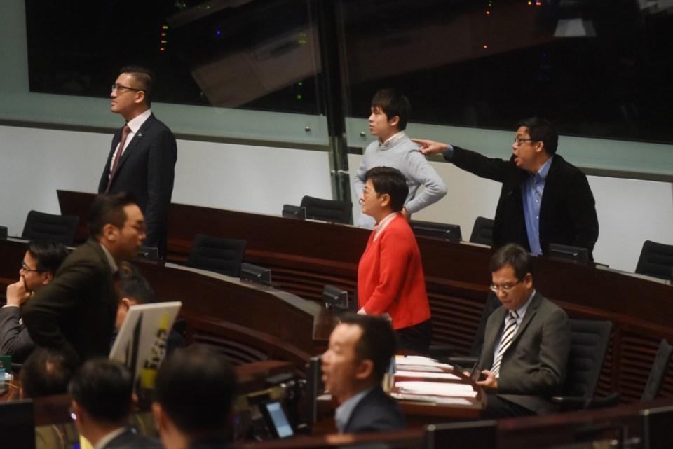 Pro-democracy lawmakers Teresa Cheng
