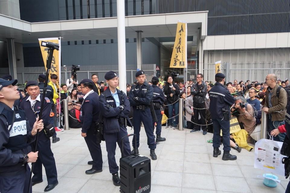 police civic square jan 1 rally