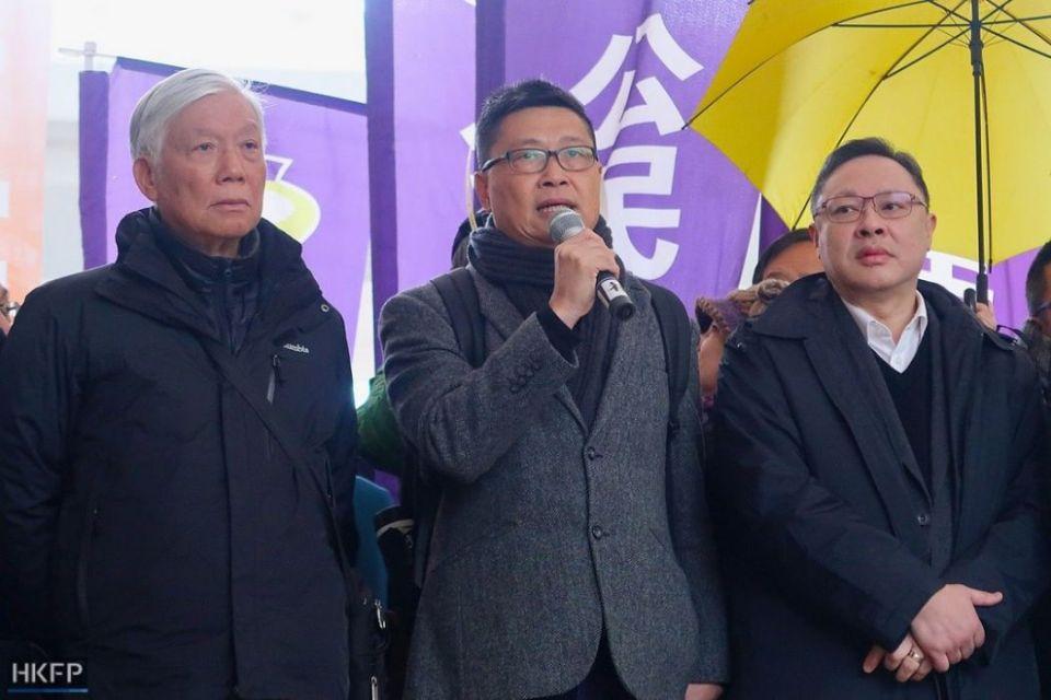 Chu Yiu-ming, Chan Kin-man and Benny Tai.