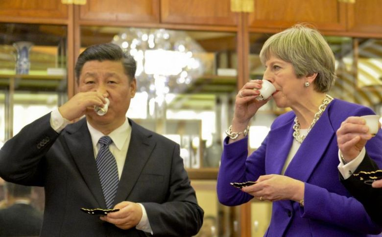 UK Prime Minister Theresa May in China