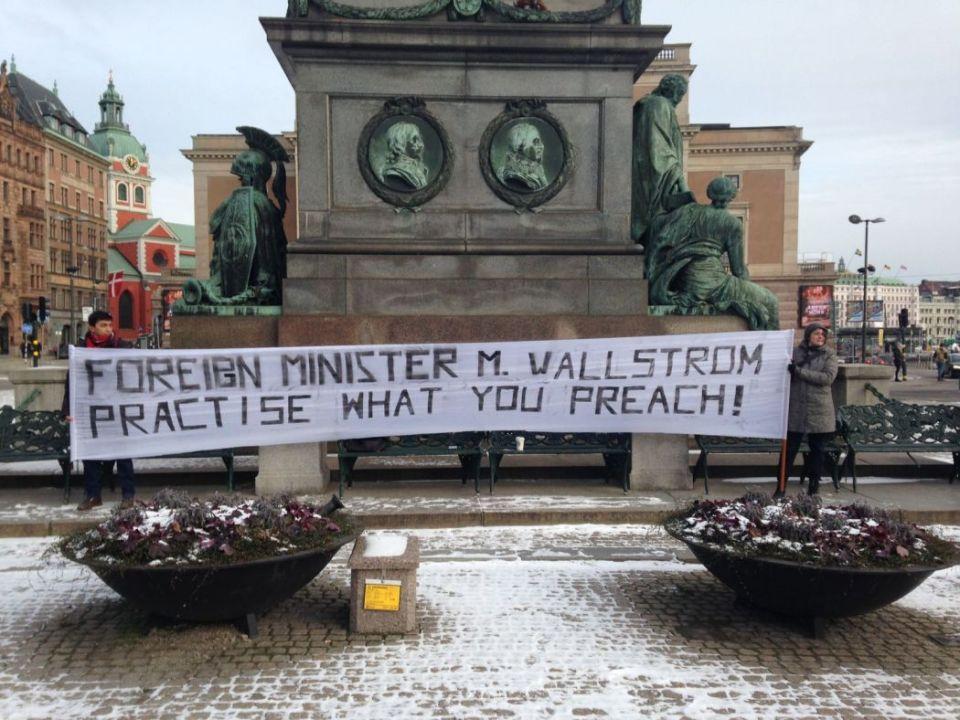 swedish protest