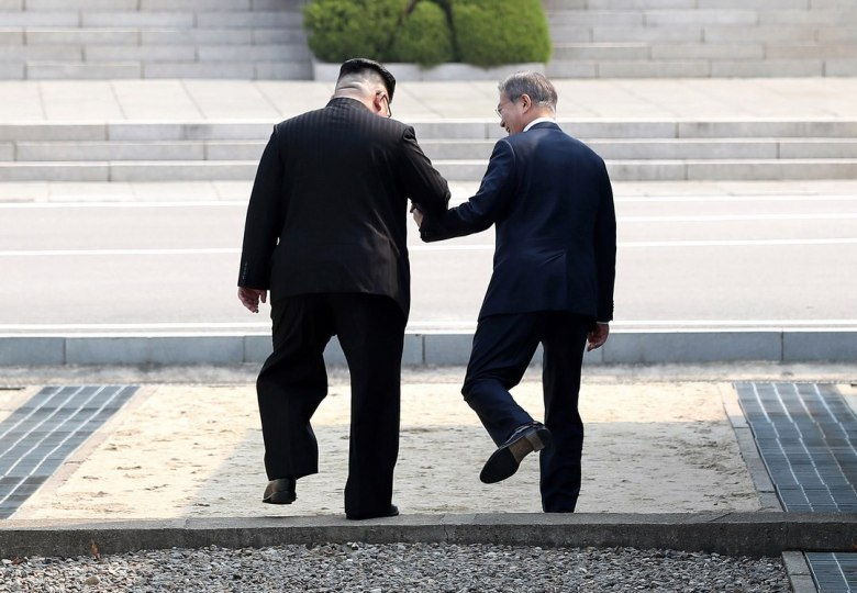North Korea's Kim Jong-un and South Korea's Moon Jae-in