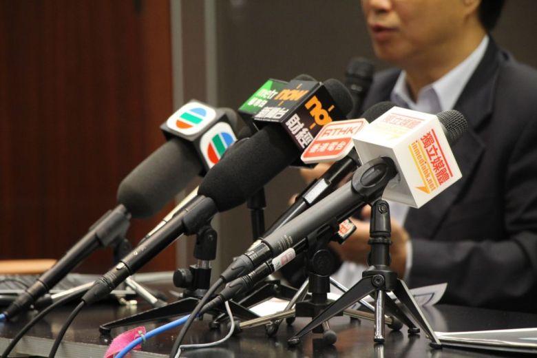 Microphones media journalists hong kong