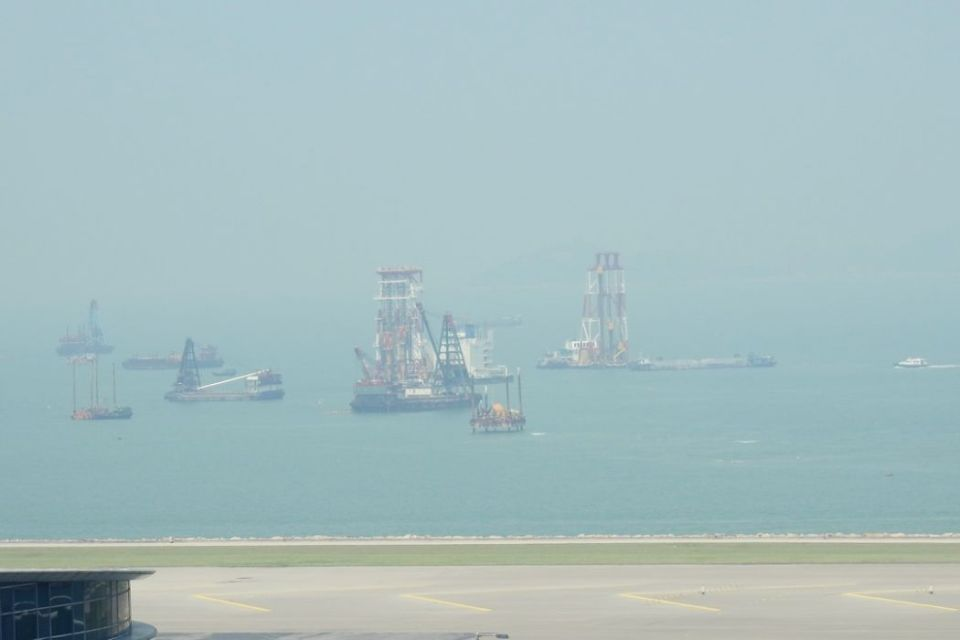 Hong Kong Airport Third Runway reclamation