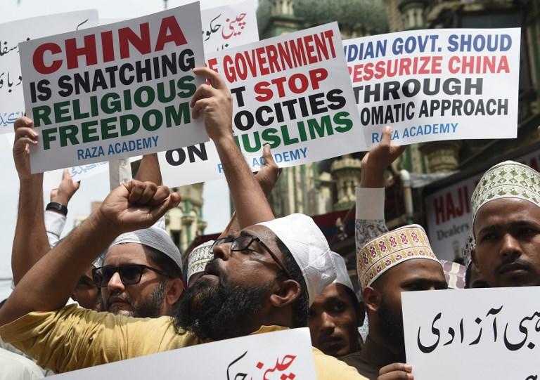 xinjiang muslims protest