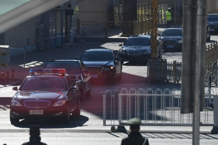 motorcade of North Korean leader Kim Jong Un