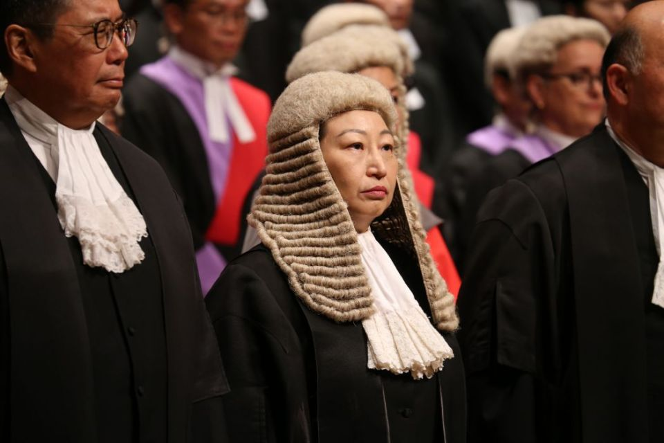 Secretary for Justice Teresa Cheng.