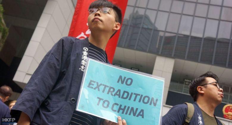 extradition china law joshua wong