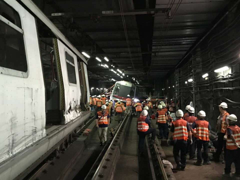 MTRC crashed trains