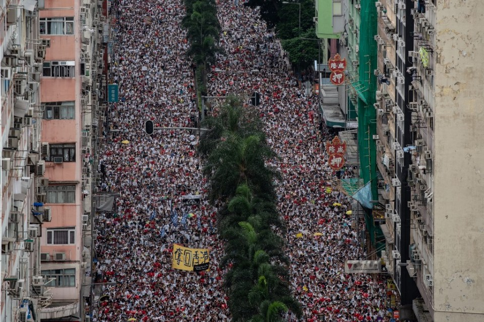 extradition mass protest