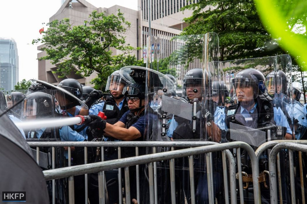 China extradition protest admiralty clash