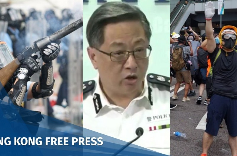 police tear gas journalist