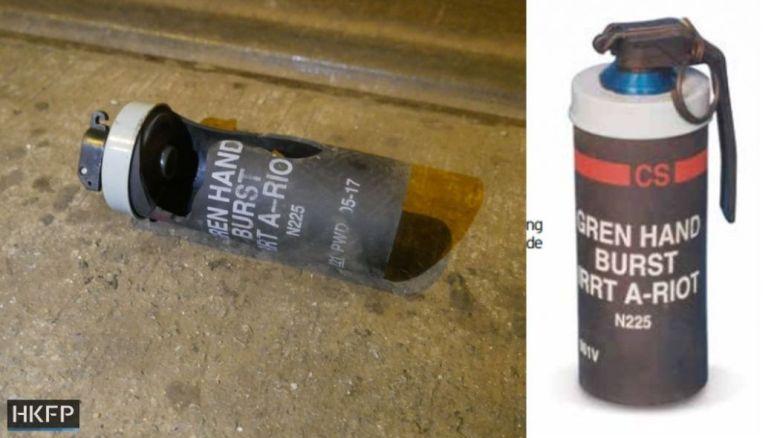 sheung wan tear gas grenade