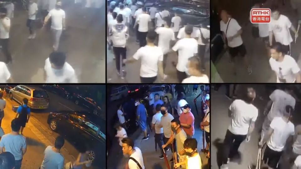 police men white shirt Yuen Long